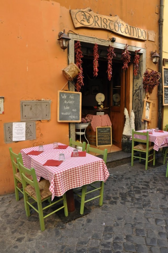 Typical Cafe in Trastevere