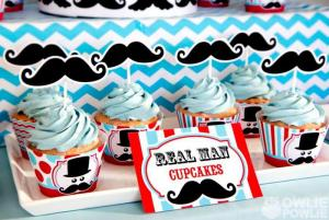 Mustache Themed Baby Shower Photo Courtesy of OwliePowlie.com