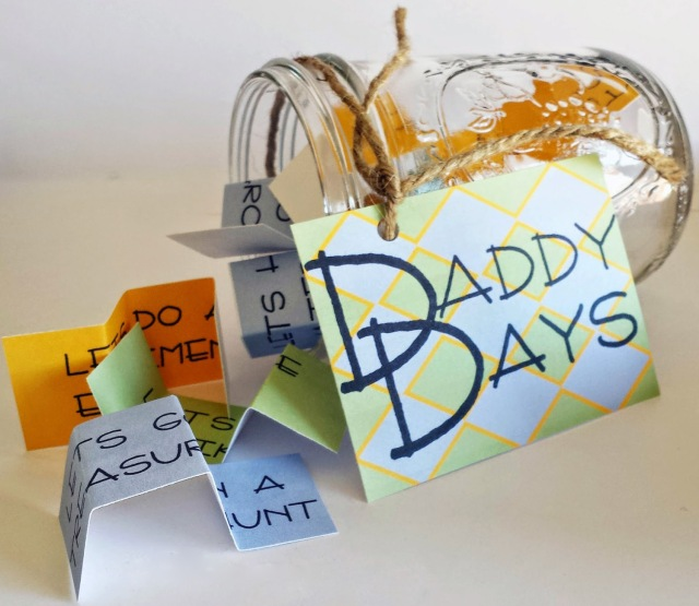 Daddy Days Father Son Activity Jar Photo courtesy of whilehewasnapping.com