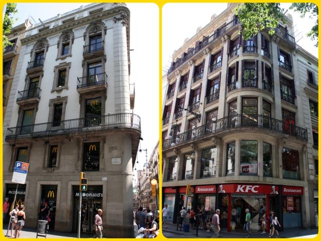 McDonalds & KFC on LA Rambla