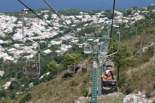 Views of Capri from the chairlift