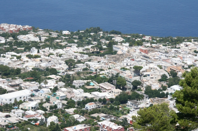 View of Capri from the chairlift