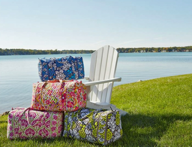 The large duffel bag in beautiful prints.