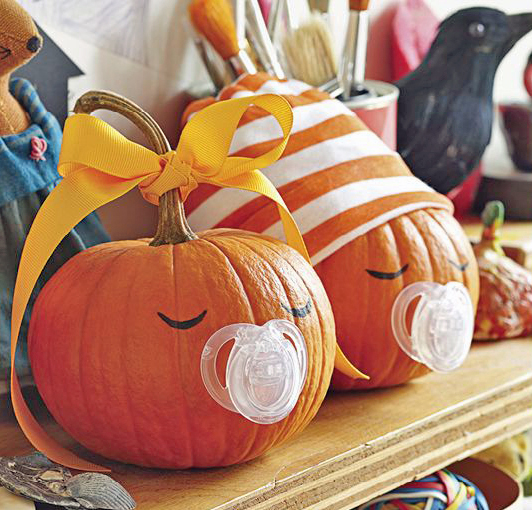 Very cute idea for baby's frist Halloween.  Photo courtesy of Parents.com.
