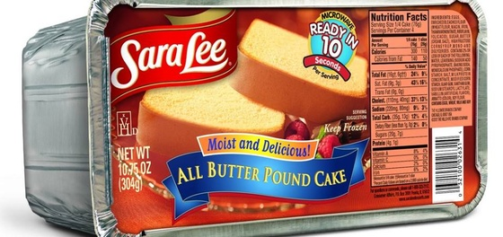 Sara Lee All Butter Pound Cake