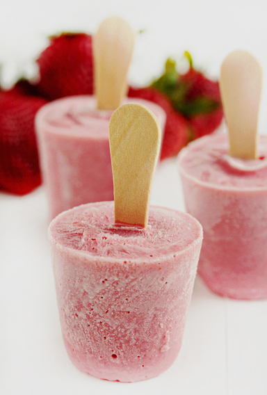 Strawberry Ricotta Popsicles
