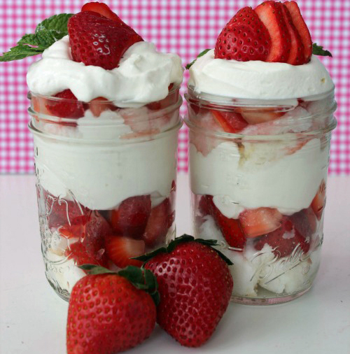 Mason Jar Strawberry Shortcake, recipe here.