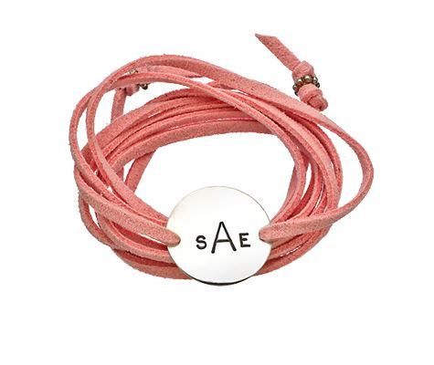Max & Chloe, Jenny Present Pink Lauren Wrap Bracelet, $85