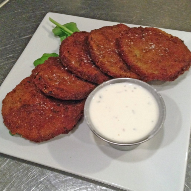 Fried Green Tomatoes & herb buttermilk dressing