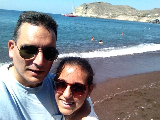 One of their stops...Red Beach!