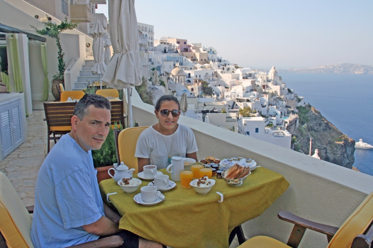 Breakfast on our terrace, priceless.