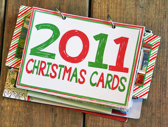 Another version of the Christmas Card Book, click here.