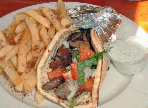 Gyros served with fries