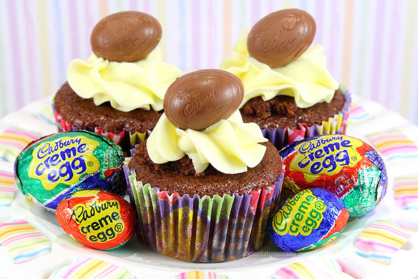 Creme egg cupcakes, photo courtesy of cupcakestakethecake.com.