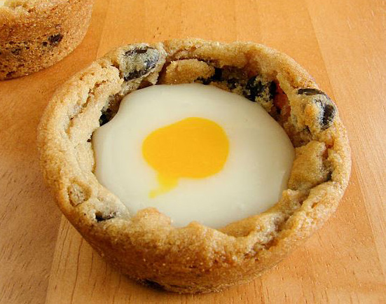 Cadbury creme egg cookie cups, photo courtesy of inkatrinaskitchen.com.