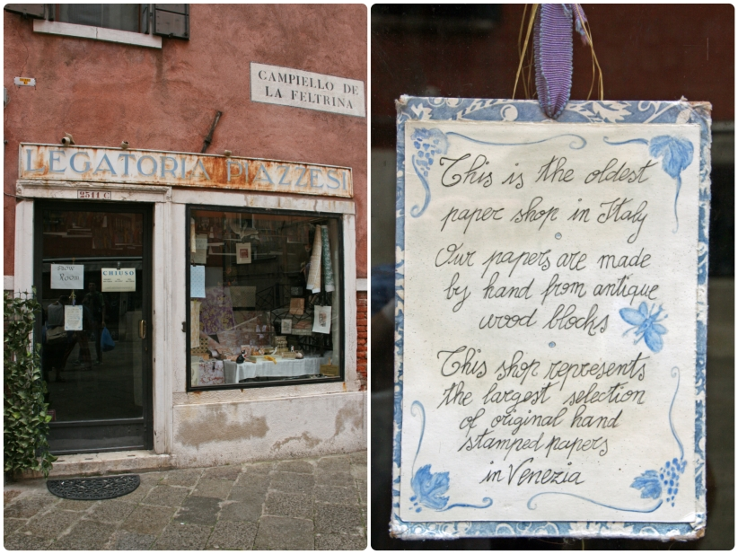 Legatoria Piazzesi, the oldest paper shop in all of Italy...