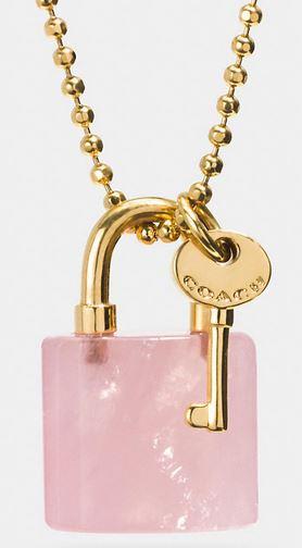 Lock & Key Necklace by Coach