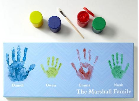 Handprints Custom Canvas from CurrentCatalog.com