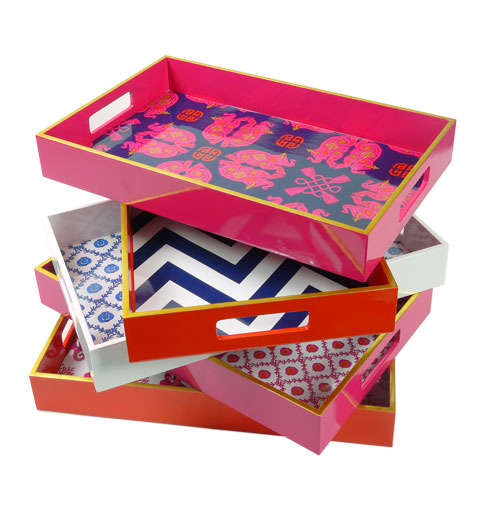 Lacquer trays found here.
