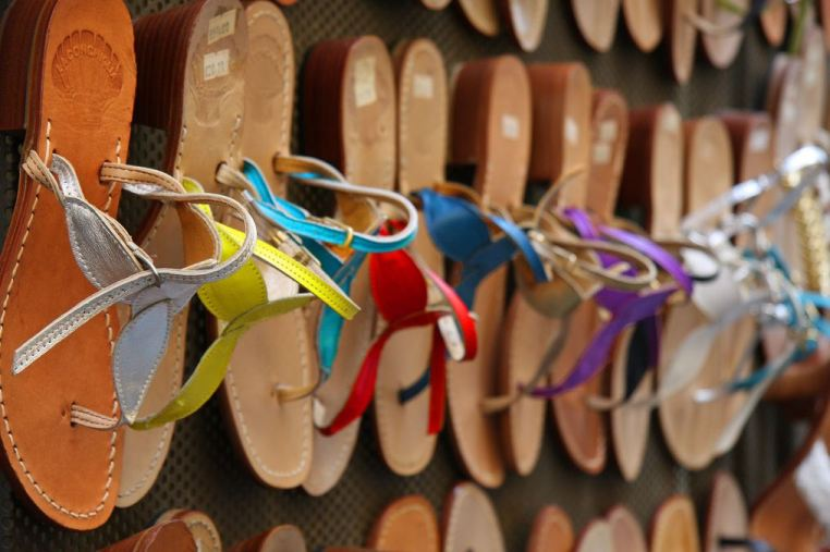 Gorgeous leather sandals made while you wait