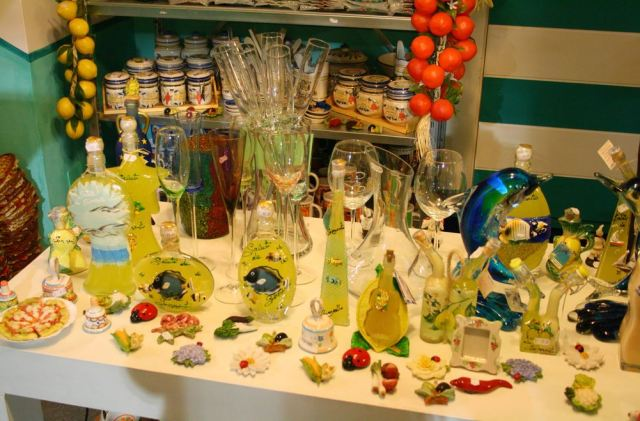 Typical limoncello shop