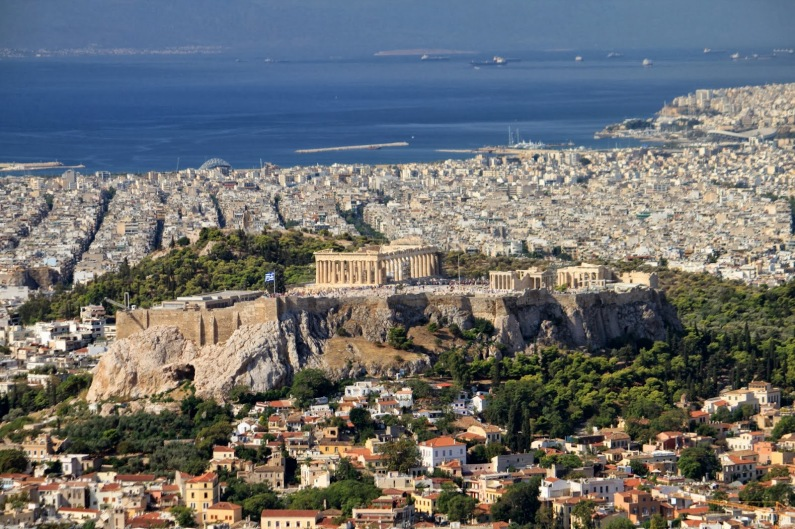 View of Athens from Lyvitaccus Hill