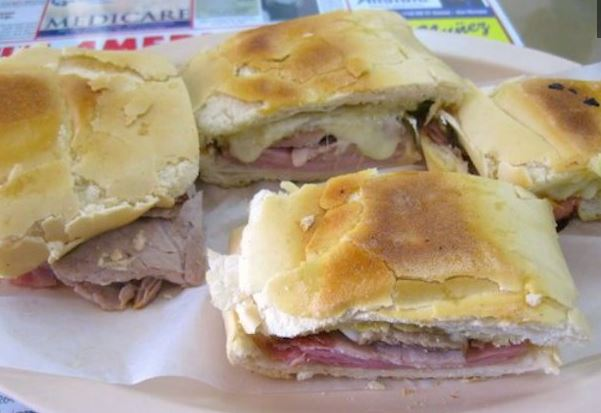 Cuban sandwiches at Latin American