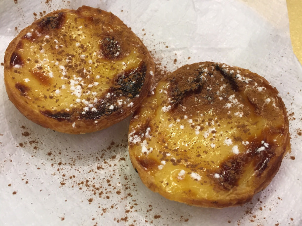 The yummy pasteis de nata