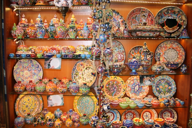 Gorgeous ceramic pottery sold at various stores.