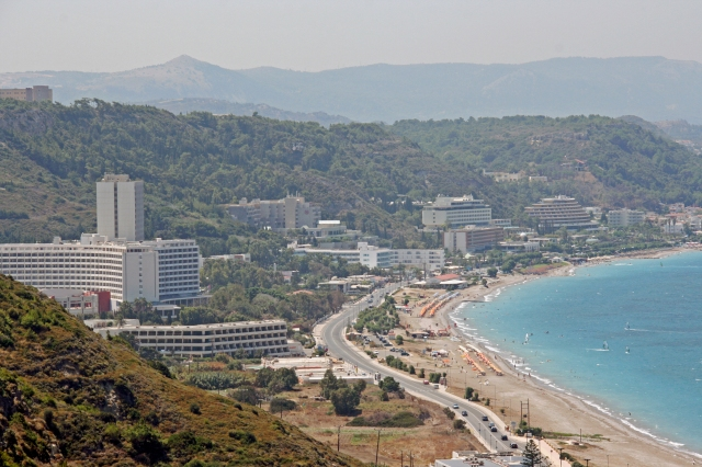 A view of one of the island's beaches.