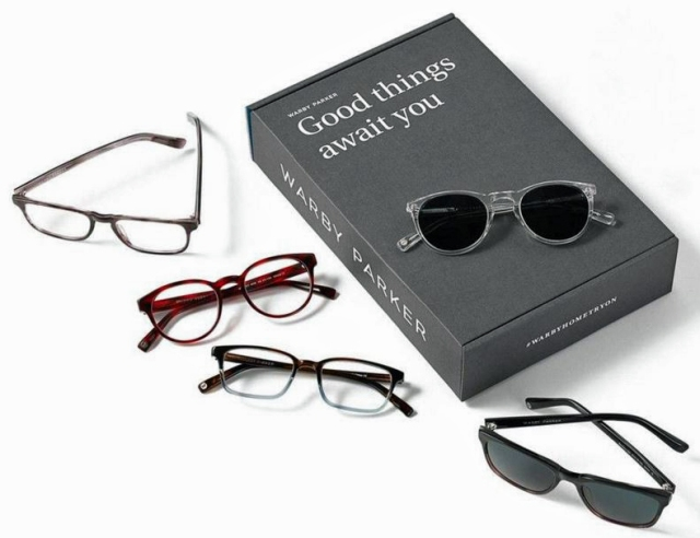 Home Try-On Program. Photo Courtesy of Warby Parker