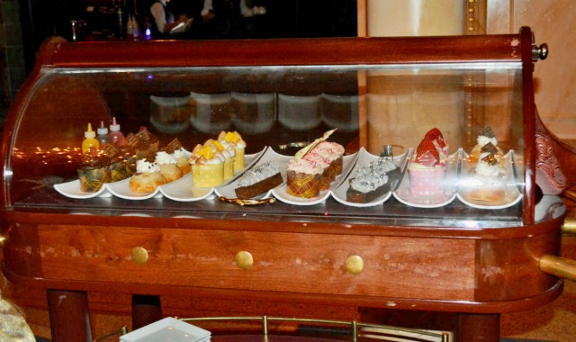 The dessert trolley...YUM!