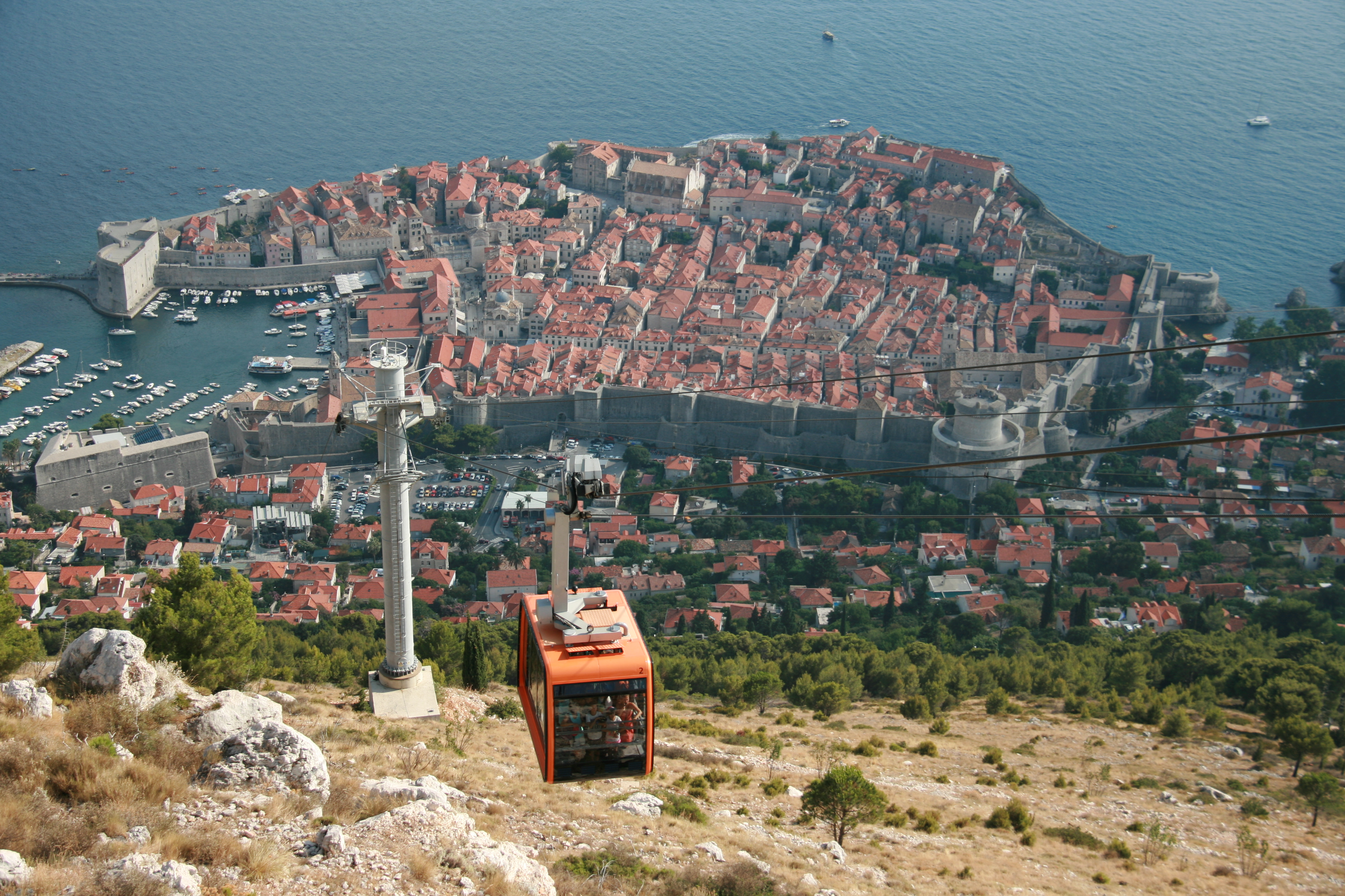 Taking the funicular up ...